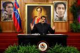 El presidente venezolano, Nicolás Maduro, el martes, durante una...