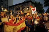 Protesta delante de la Delegación del Gobierno en Barcelona para...
