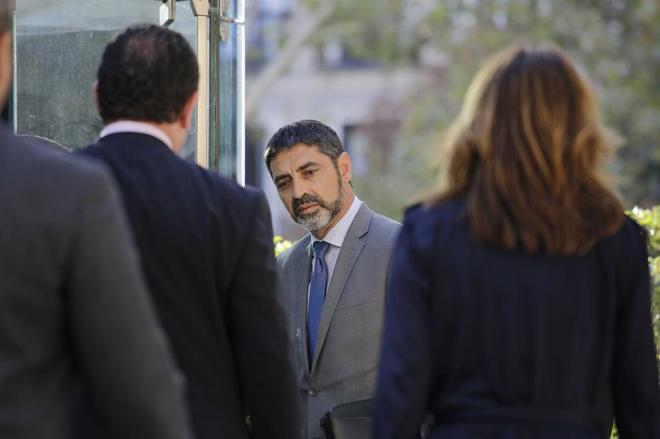 Trapero entrando en la Audiencia Nacional.