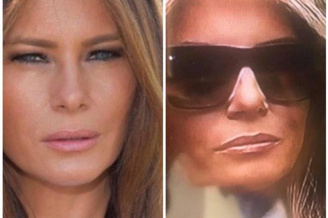 Las redes sociales sospechan que Melania Trump usa una doble para los actos públicos