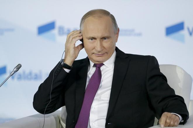 El presidente de Rusia, Vladímir Putin, hoy en Sochi.