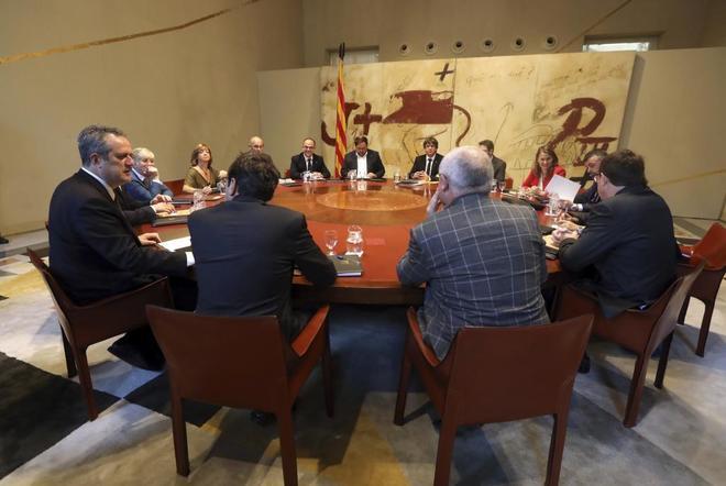 Reunión del Govern la pasada semana en el Palau de Generalitat.