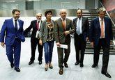 El directos de ABC, Bieito Rubido; el presidente de la Fundación...