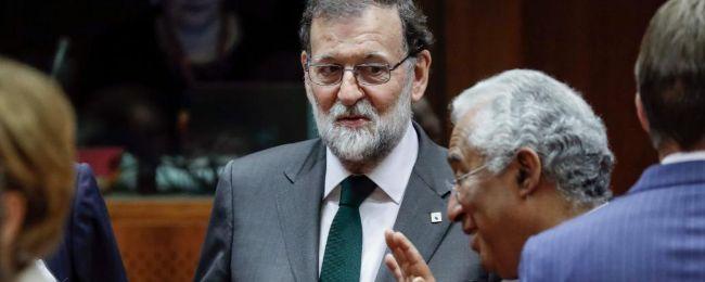 Mariano Rajoy, durante la segunda jornada del Consejo Europeo en...