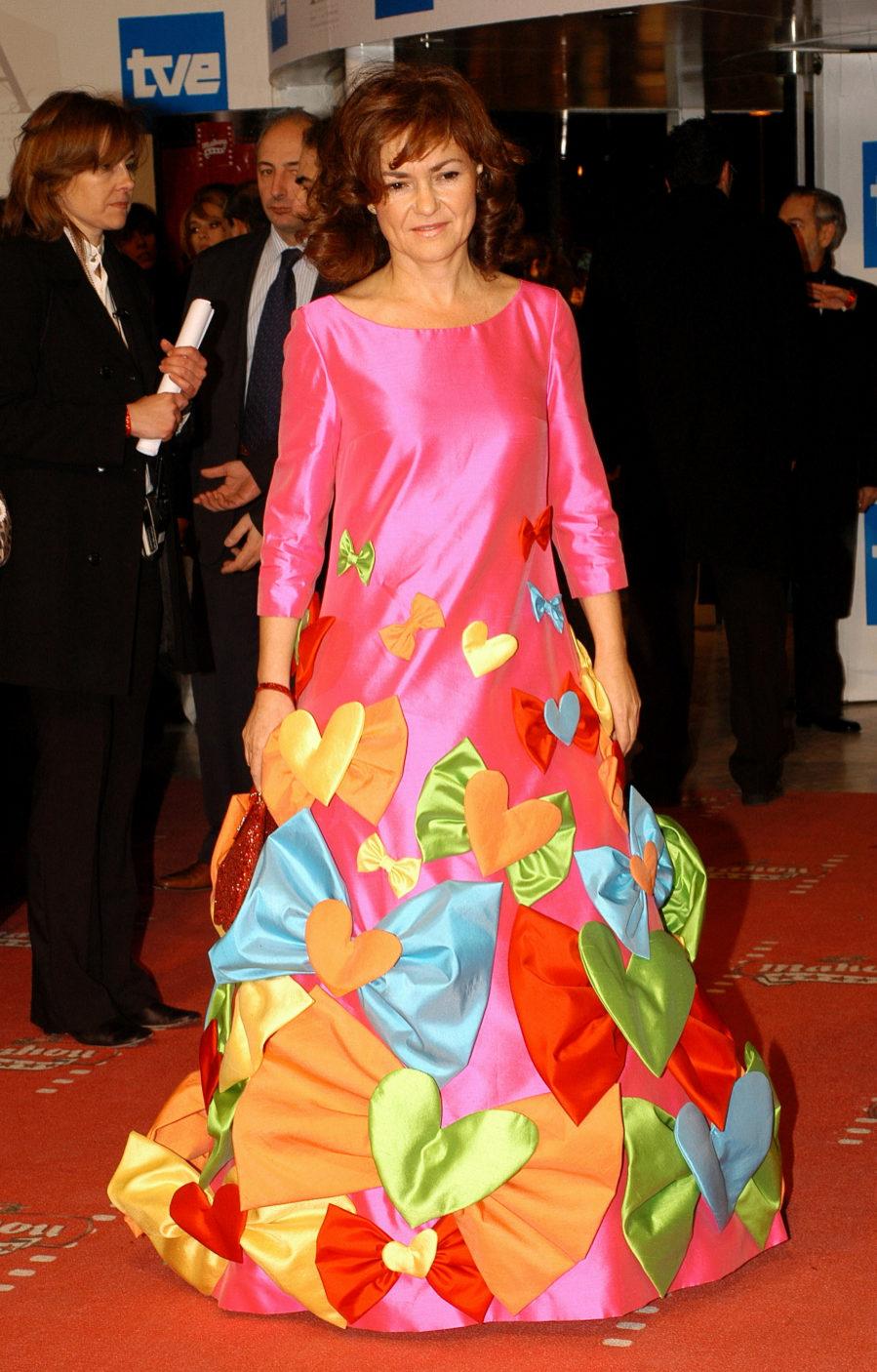 Carmen Calvo, Ministra de Cultura en 2006, acudió a la gala de...