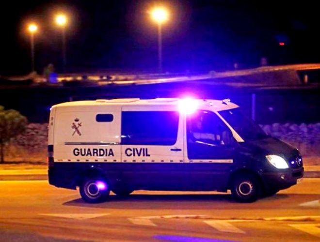 Imagen del vehículo de la Guardia Civil que trasladó a Jordi Sànchez y Jordi Cuixart a Soto del Real.