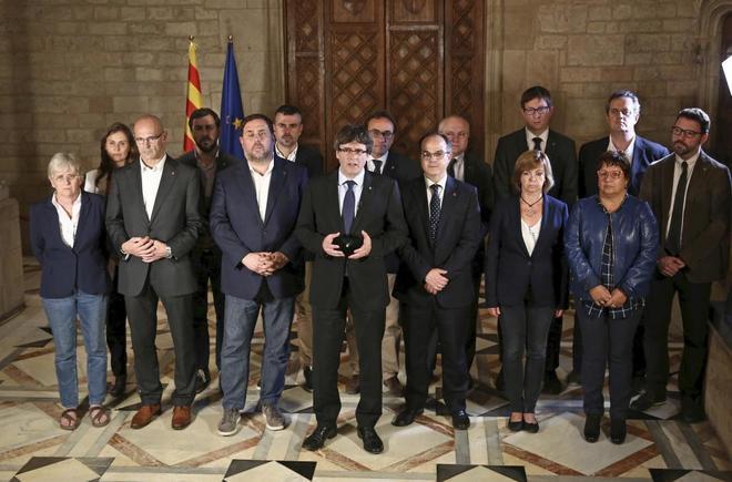 Fotografía facilitada por la Generalitat de la declaración de...