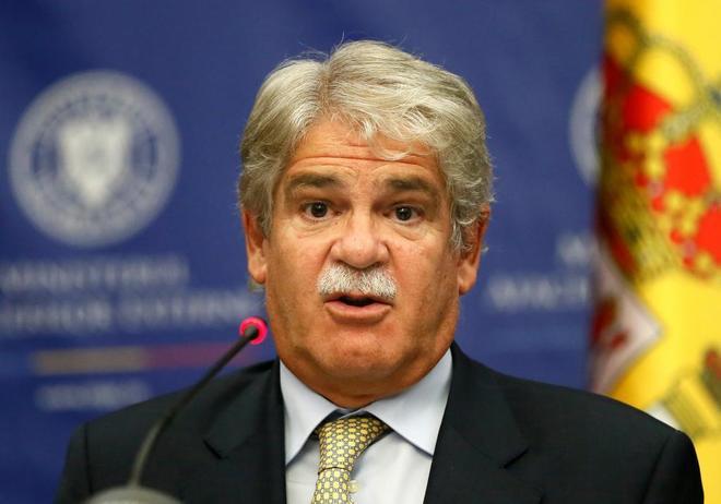 El ministro de Exteriores, Alfonso Dastis, en rueda de prensa en...