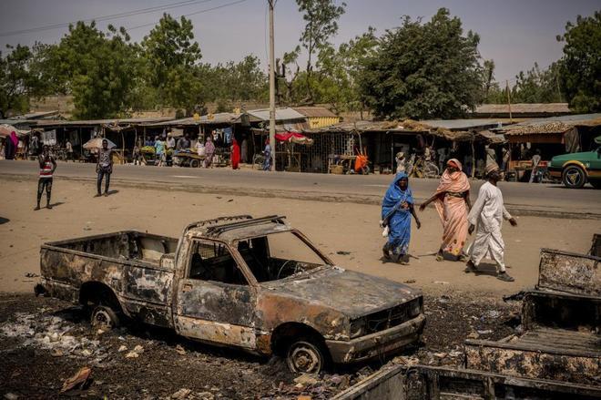 Atentado suicida en Maiduguri ocurrido el pasado mes de febrero.