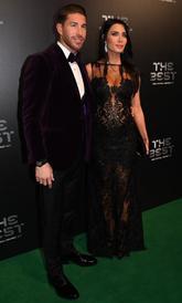 Sergio Ramos y su pareja, Pilar Rubio.