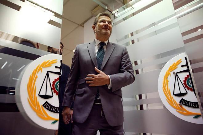El ministro de Justicia, Rafael Catalá, durante su participación en...