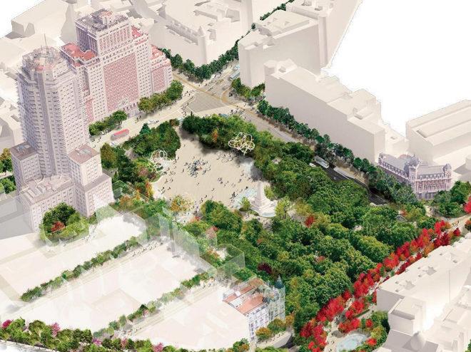el ayuntamiento de madrid modifica el proyecto de la plaza