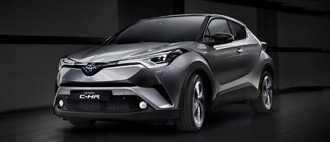 Toyota CH-R, que sólo se comercializa con propulsión híbrida pura...