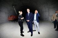 El alcalde de Alicante, esta semana junto a Ximo Puig, en el túnel de la Serra Grossa.