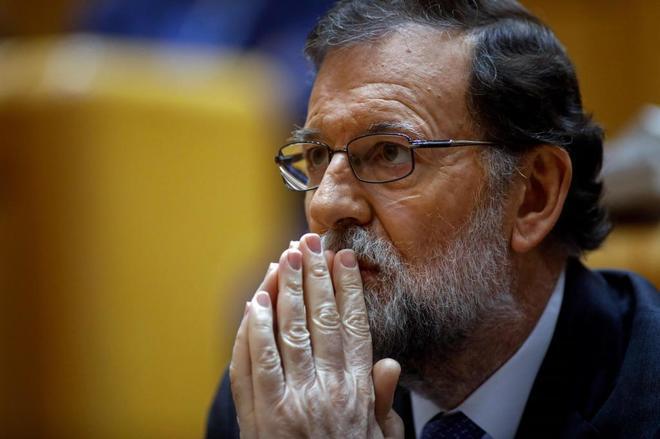 El presidente del Gobierno, Mariano Rajoy, en el Senado el 27 de octubre.