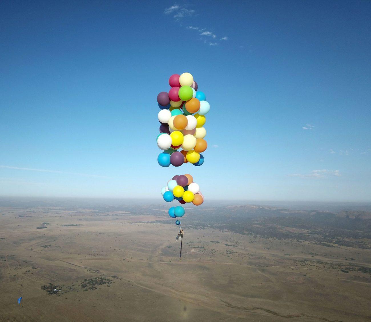 Tom Morgan, sobrevolando los cielos de Johannesburgo (Sudáfrica). Lo...