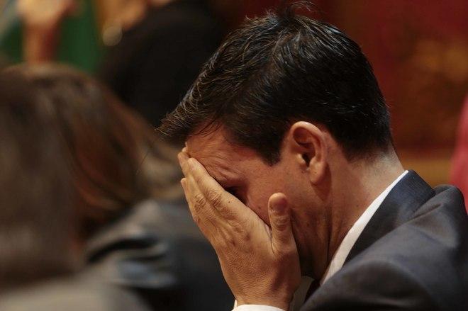 El socialista Francisco Cuenca, durante el pleno en el que ha sido reprobado este viernes.