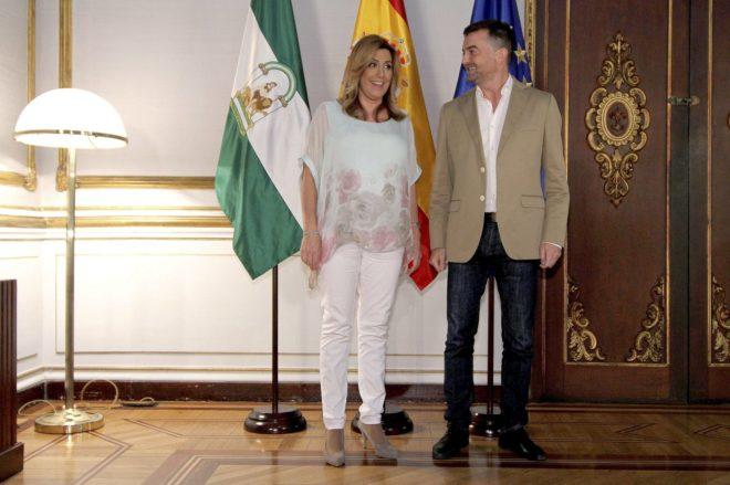 Susana Díaz y Antonio Maíllo, en San Telmo.