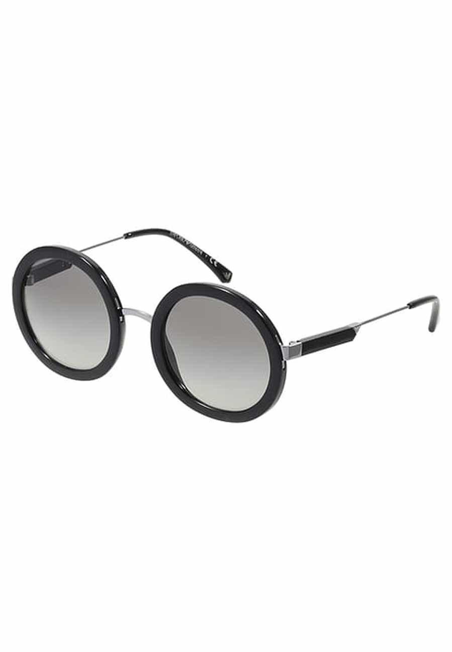 Gafas de sol negras con montura redonda de Emporio Armani | Yodona ...