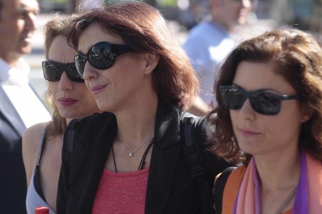 Juana Rivas, en una foto tomada cuando declaró ante los juzgados de Granada.