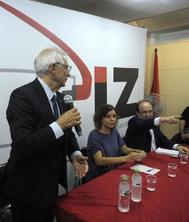 Josep Borrell y Miquel Iceta, juntos en un acto en agosto.