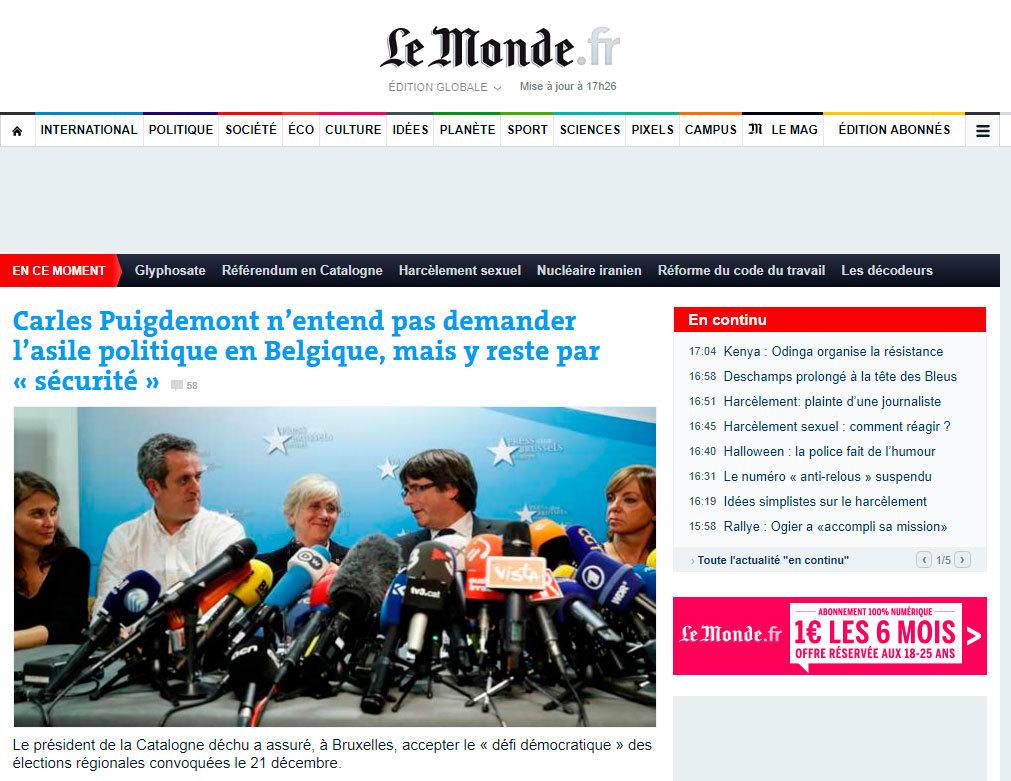 El diario francés abre en portada con un titular sobre la rueda de...