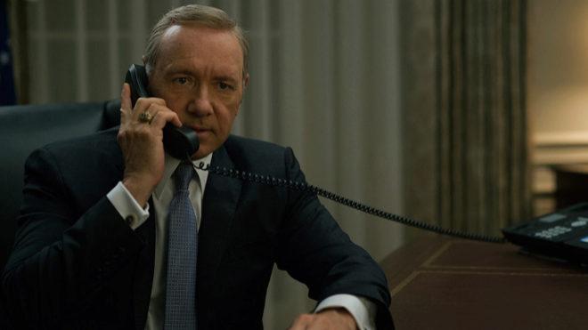 Kevin Spacey, en su papel de Frank Underwood en 'House of cards'.