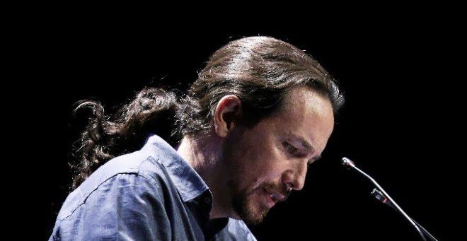 Pablo Iglesias, esta semana, en un acto de Podemos.