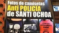 """Muestra de """"camisetas anti policía"""" apoyada por el Gobierno vasco"""