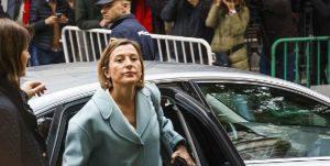 Carme Forcadell, ex presidenta del Parlament de Cataluña, a su...