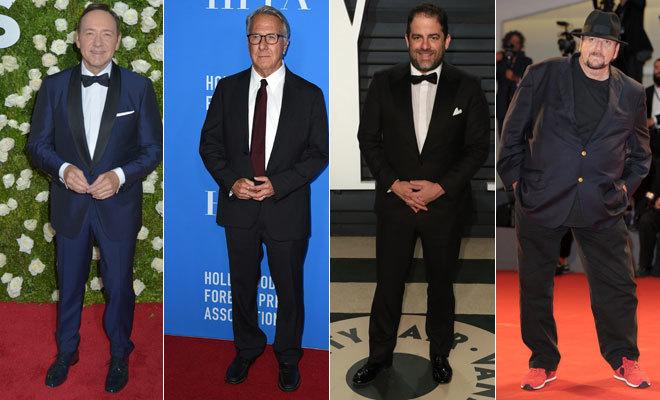 De izquierda a derecha: Kevin Spacey, Dustin Hoffman, Brett Rarner y James Toback.