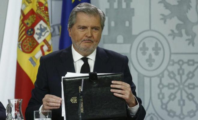 El ministro portavoz, Iñigo Gomez de la Serna.