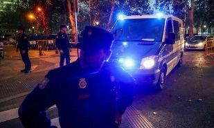 Agentes de la Policía Nacional, en las inmediaciones de la Audiencia...