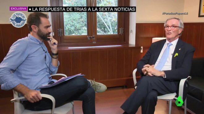 Xavier Trias, interrogado en una entrevista en La Sexta sobre su...