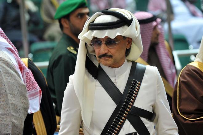 El príncipe saludí AlWaleed bin Talal en Riad.