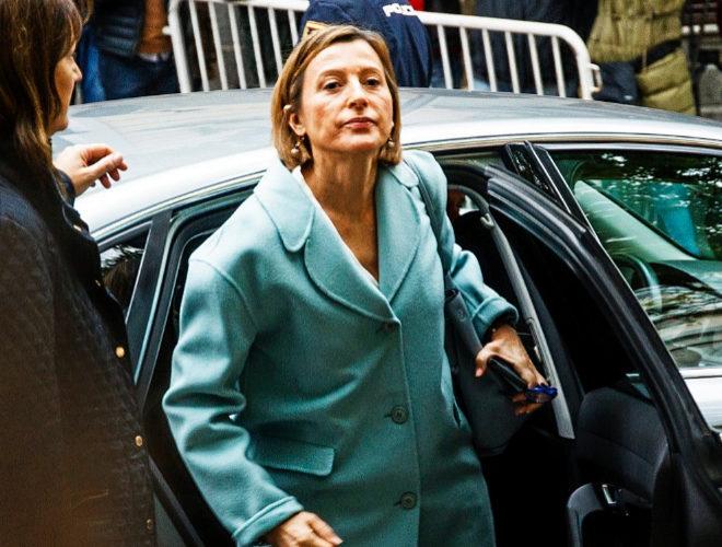 La presidenta del Parlament, Carme Forcadell, a su llegada al Supremo...