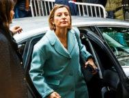 La presidenta del Parlament, Carme Forcadell, a su llegada al Supremo el pasado 2 de noviembre.