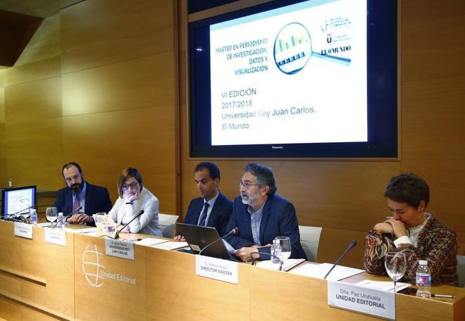 De izda. a dcha., Juan Antonio García (delegado de CaixaBank), Hassel...