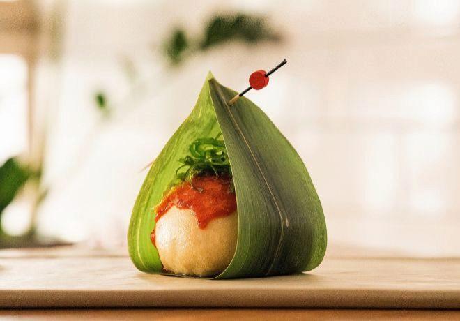 'Bombón de cerdo con kimchi, una propuesta con toques asiáticos.