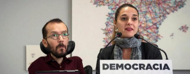 """Echenique: """"Nuestra intervención de Podemos Cataluña ha sido con limpieza democrática"""""""