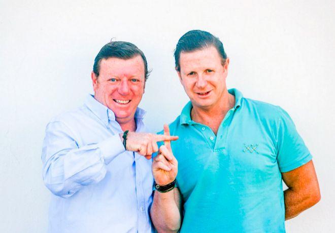 Hermanos y cómplices. César (izquierda) y Jorge Cadaval son desde...