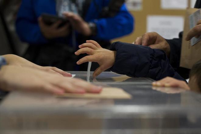 Urnas durante las pasadas elecciones generales