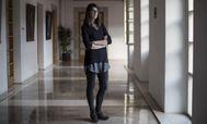 Ruth Beitia, en el Parlamento de Cantabria.