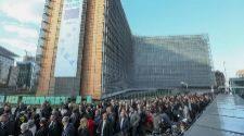 Los alcaldes independentistas que han viajado a Bruselas, ante la...