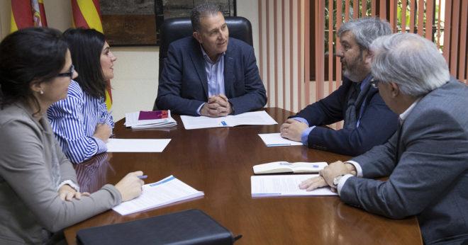 El vicepresidente de la Diputación de Castellón preside una reunión con representantes de Tarragona.