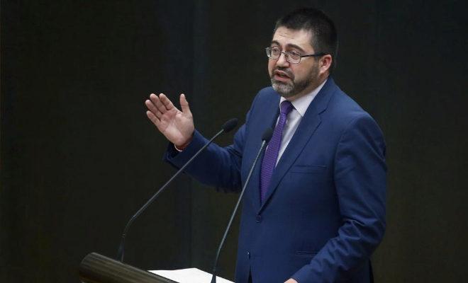 El concejal Carlos Sánchez Mato durante un Pleno del Ayuntamiento.