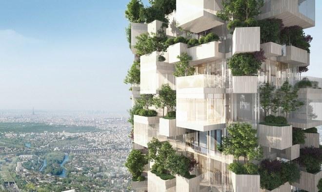 Un rascacielos-árbol listo para plantarse en París