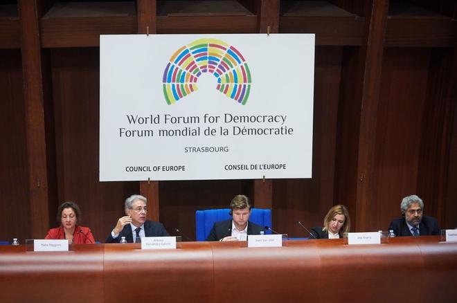 Antonio Fernández-Galiano en el Foro Mundial de la Democracia...