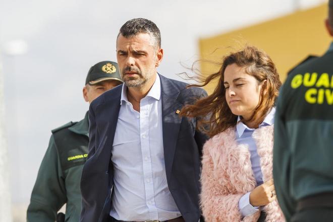 Santi Vila, al abandonar la prision de Estremera, el pasado día 3.