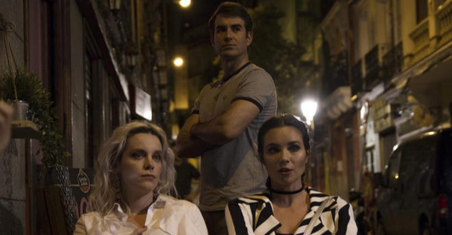 Carolina Bang, Dani Muriel y Macarena Gómez en 'Dorien'.